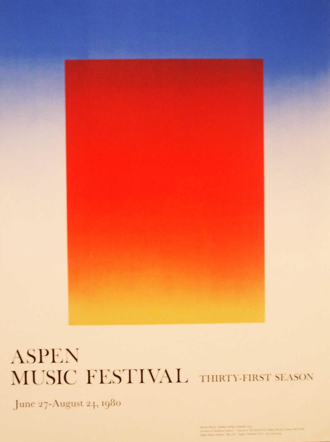 Aspen Music Festival 1980