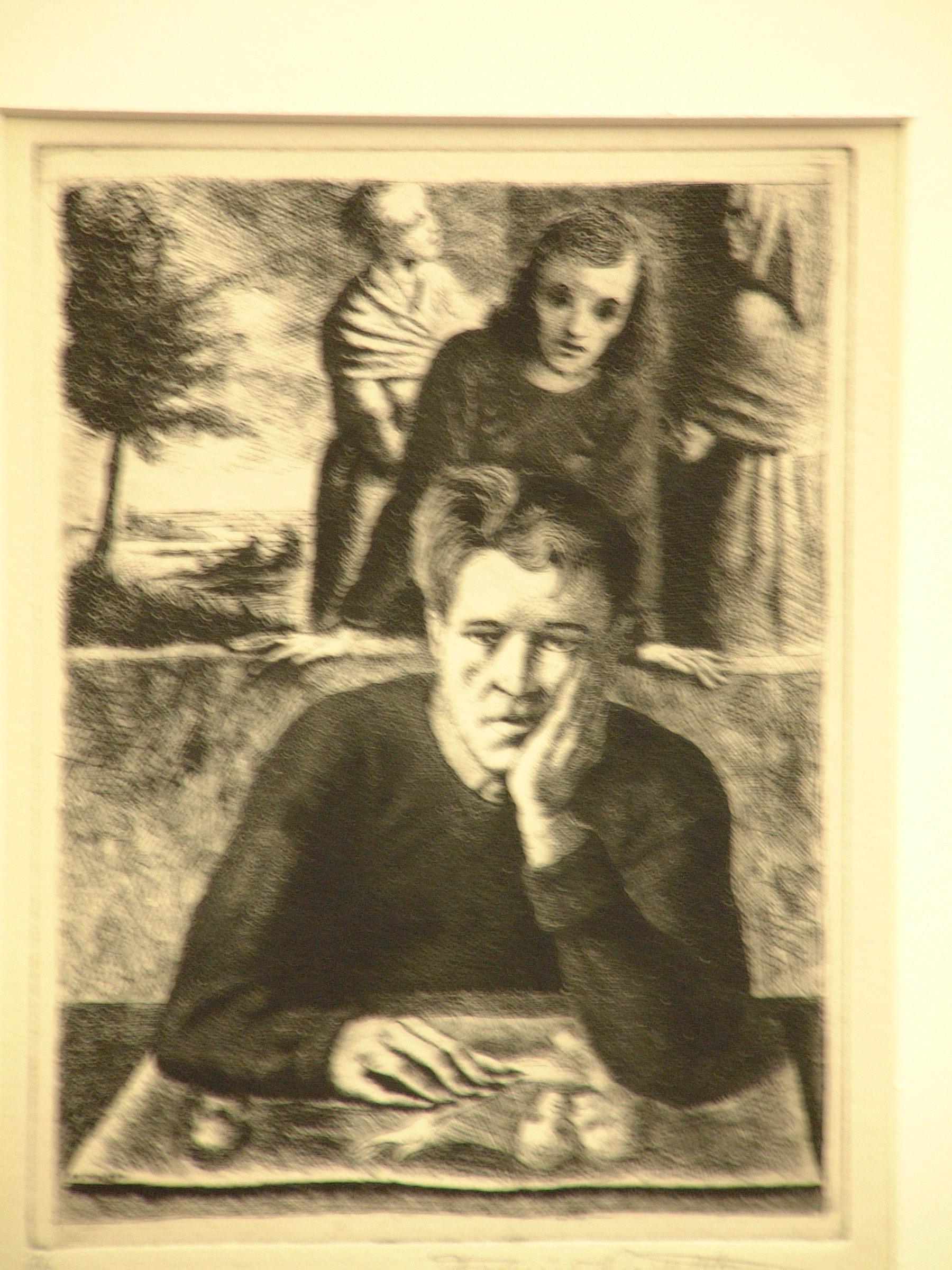 "Federico Castellon, ""self-portrait with H"""