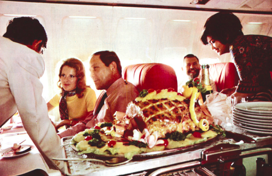 "Singapore Airlines introduced ""slumberette"" cabins in 1976, and inflight gourmet meals in 1979."