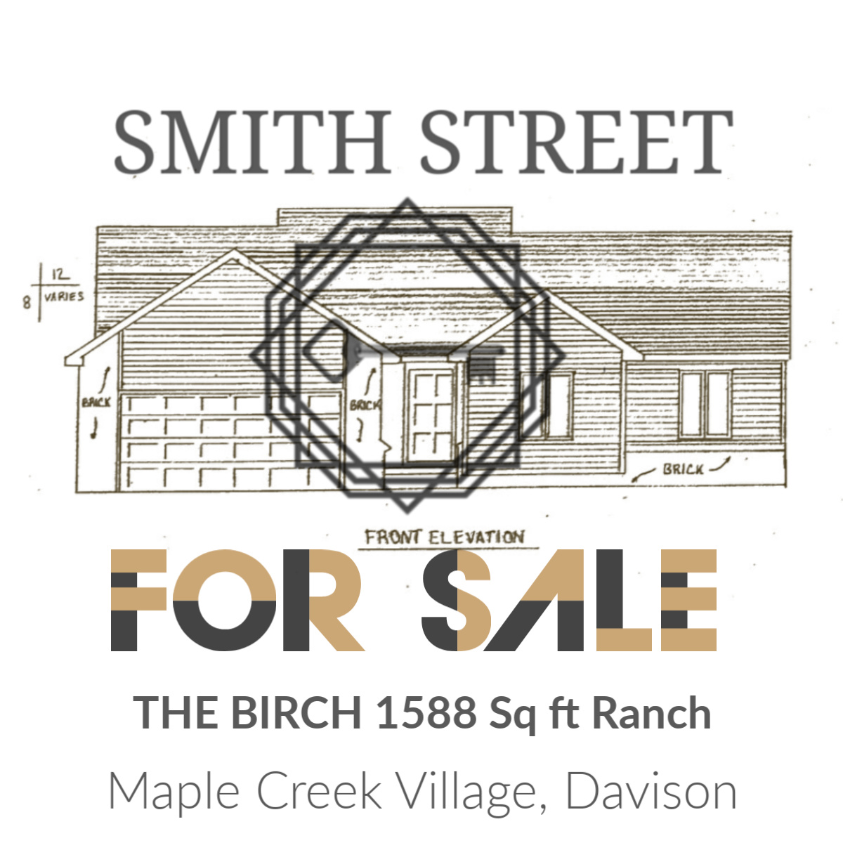 THE BIRCH - 1588 Square Foot Ranch