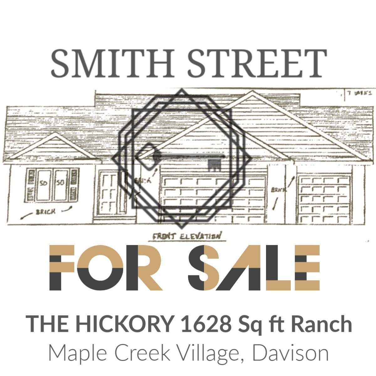 THE HICKORY - 1628 Square foot ranch