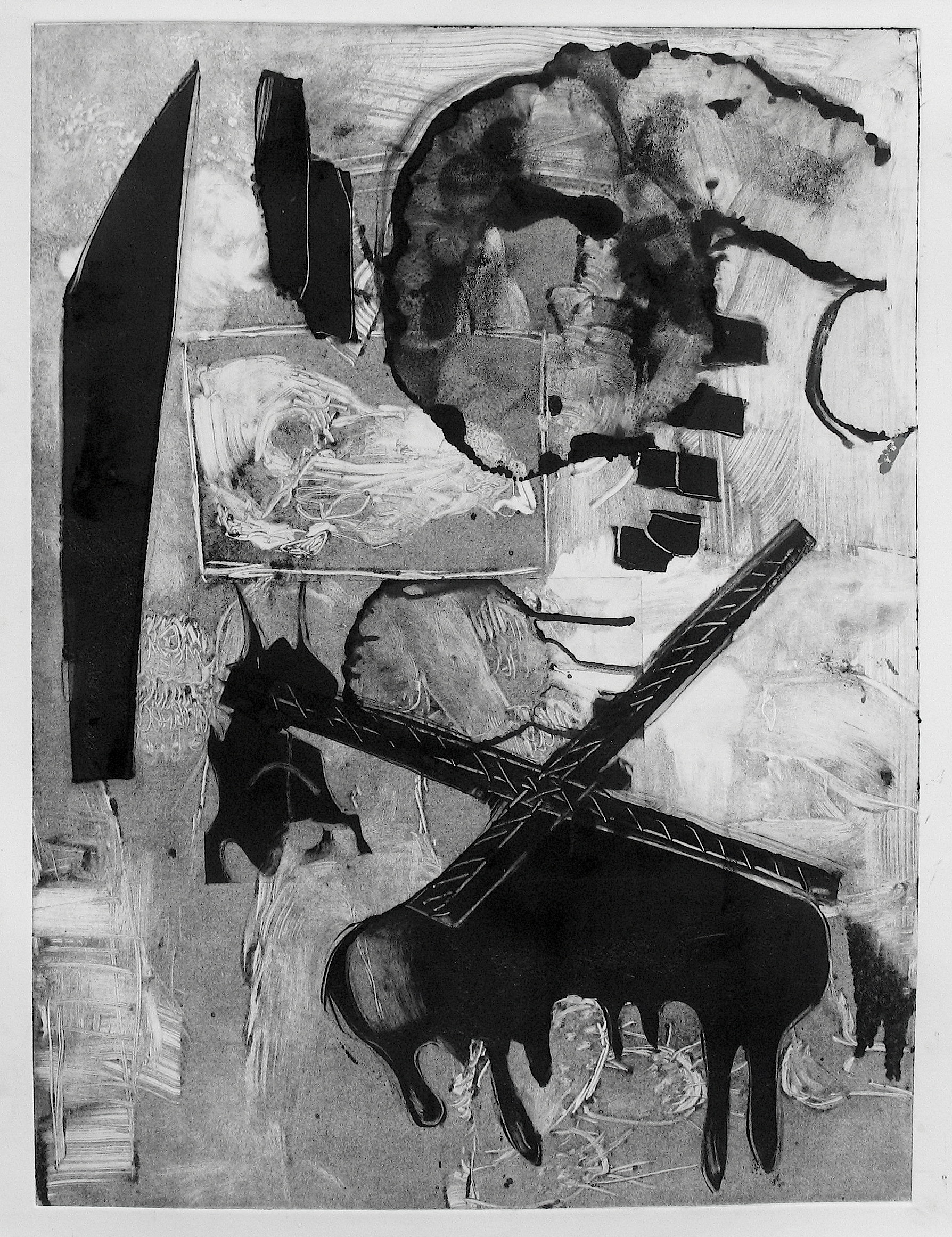 Slaughter house (2014) Monotype on paper, 24 x18 in.JPG