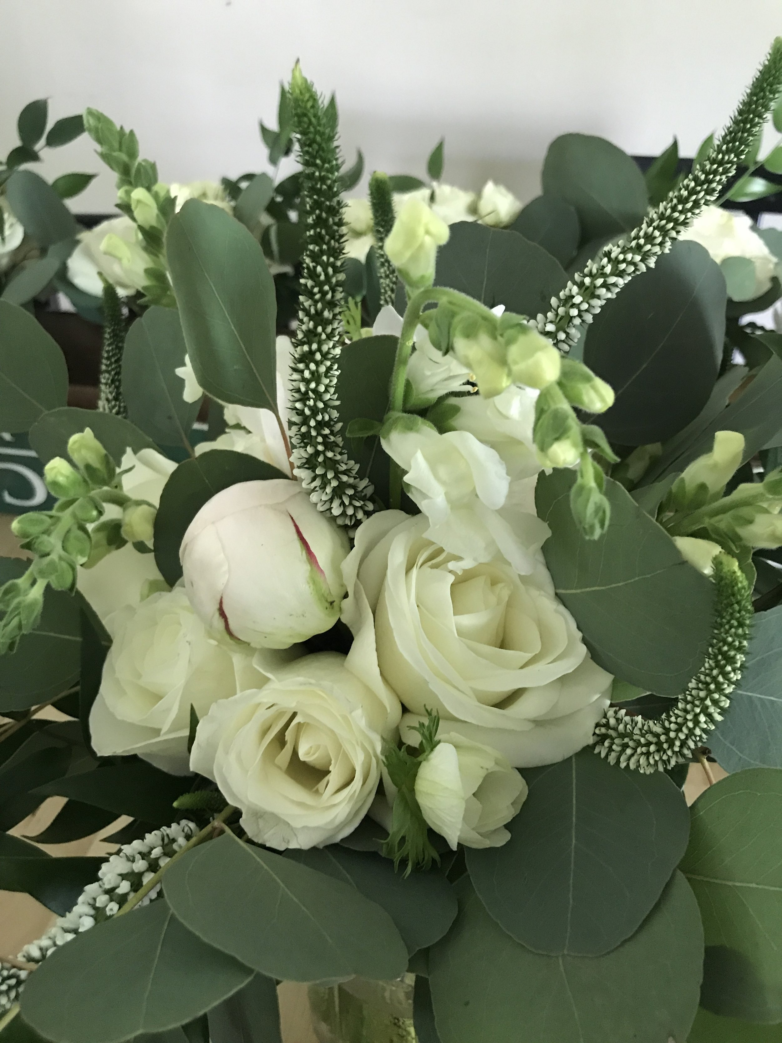 wedding bouquet design in asheville and black mountain