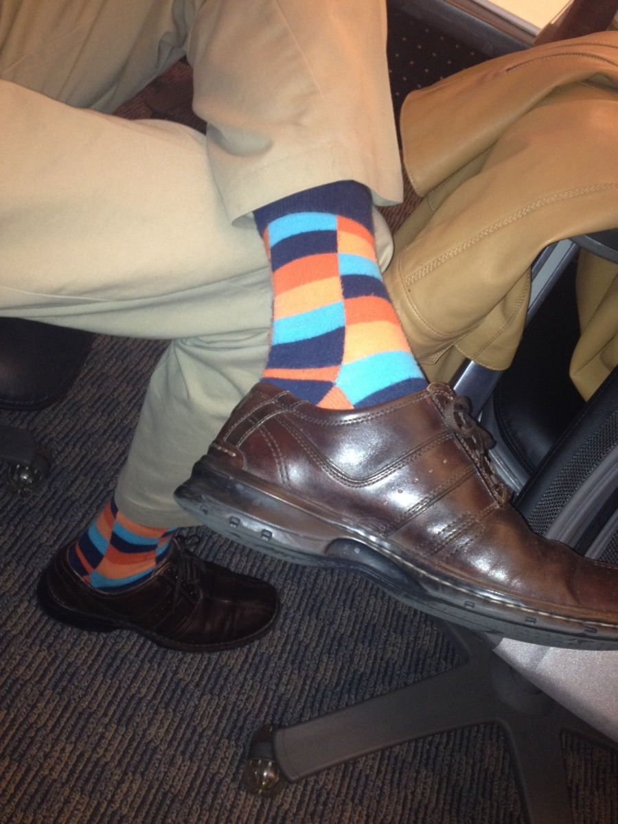 No ties, but snazzy socks required