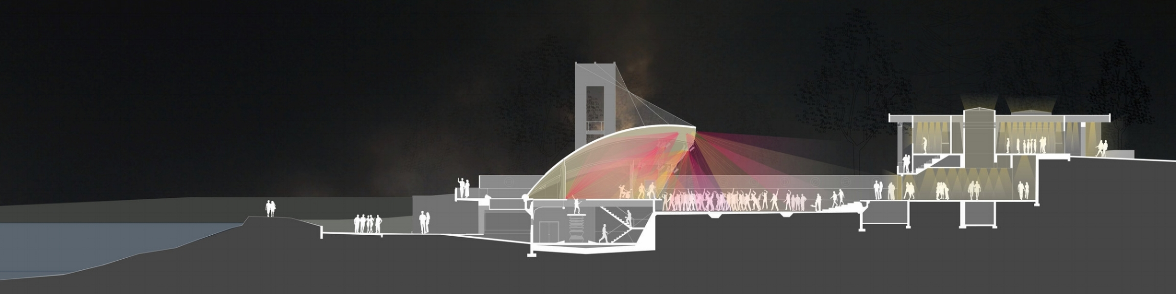 3rd Iteration: Outdoor Performance Venue and Restaurant