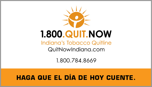 Quit Now Indiana Business Cards (Spanish)