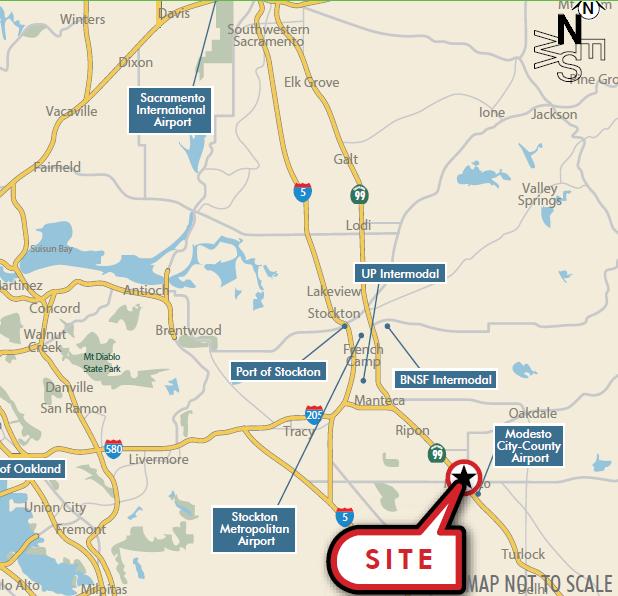 Modesto and Empire Traction Company Site Map