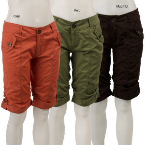 An especially offensive batch of knee length shorts.