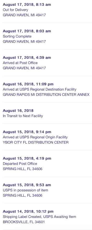 Usps Package Stuck At Distribution Center