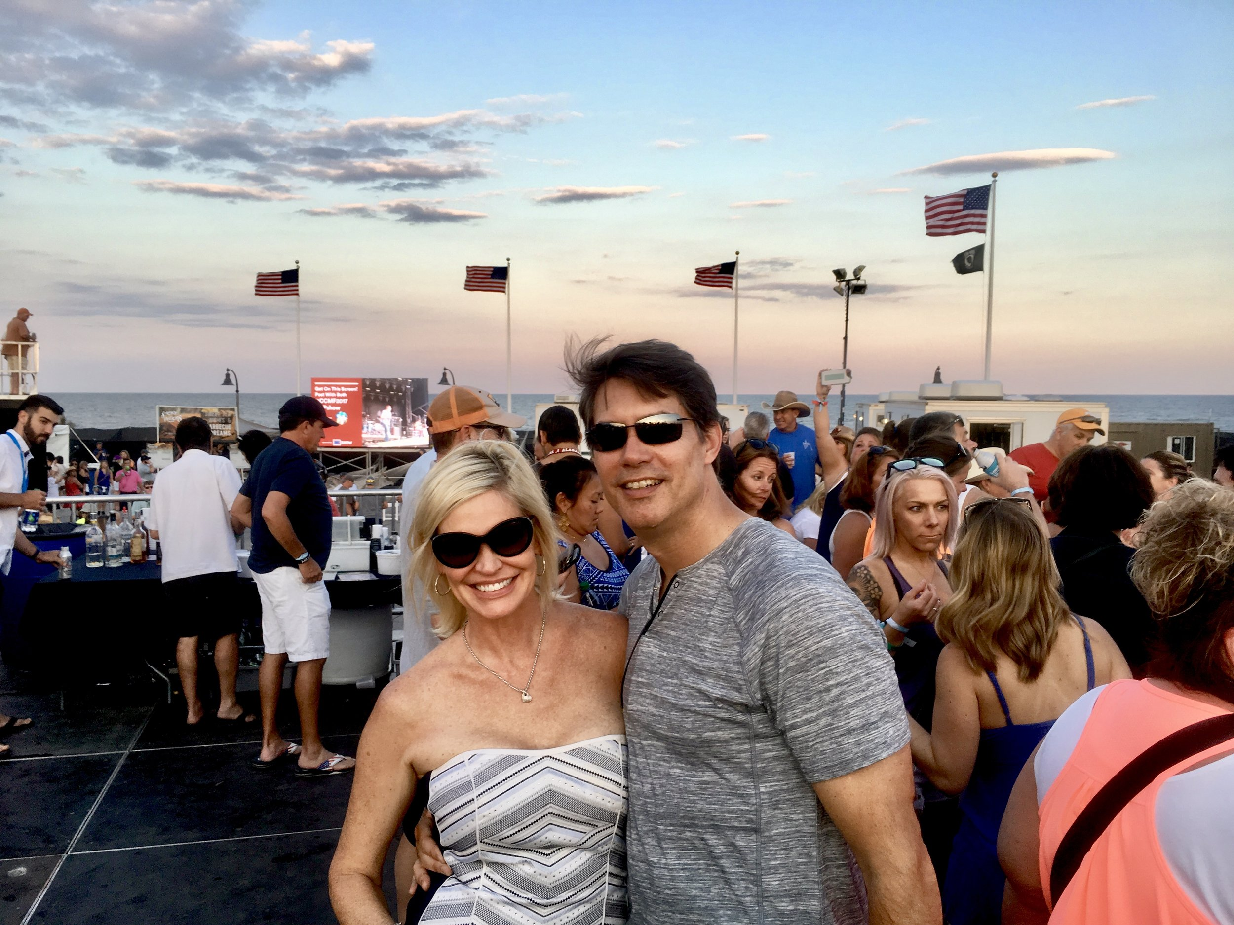 Allison and Scott Schult at Carolina Country Music Festival, Myrtle Beach, SC
