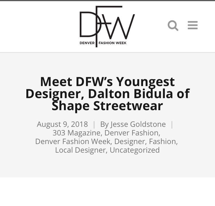 Published on August 9 2018, this article goes into the Shape Streetwear designer Dalton Bidula's design pholosophies and thoughts about his first upcoming runway show on November 4 2018 - CLICK IMAGE TO VIEW