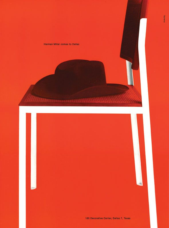 Herman Miller Comes to Dallas - George Tscherny ~ 1955Poster