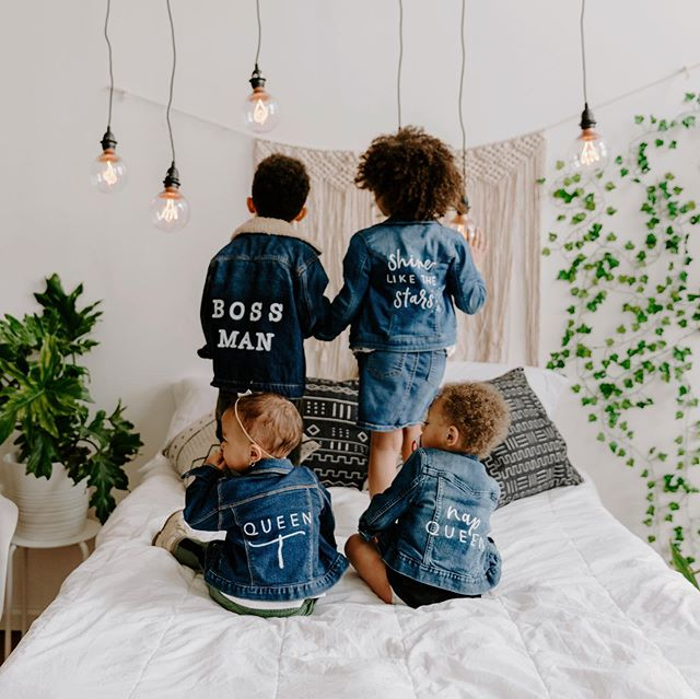 "the little ones hold a special place in my heart & i've realized that these jackets are my favorite things to create. so here ya have it...copperstone tiny denim! with each purchase I will donate 10% to @savethechildren because EVERY child deserves a future.💙 check out our ""tiny denim"" tab on the website to find more information and place your order. #copperstonetinydenim [📸: @aliciawileyphotography]"