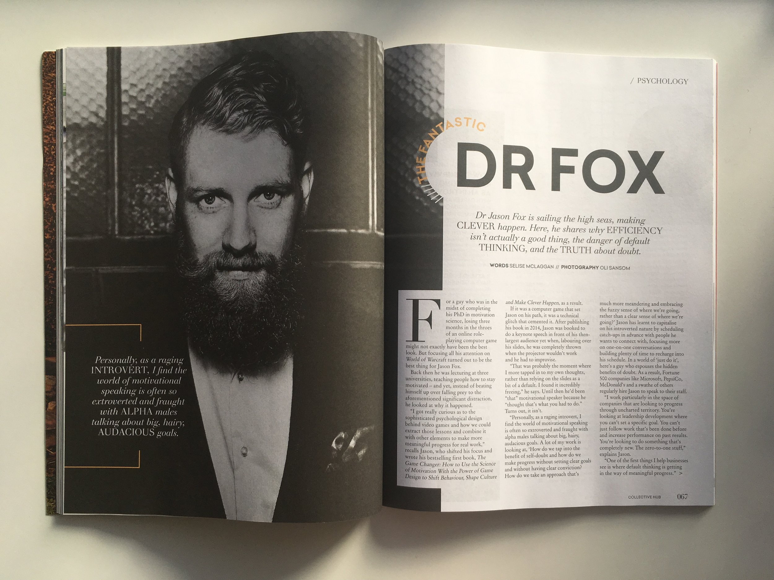 Dr Jason Fox interviewed in The Colletive