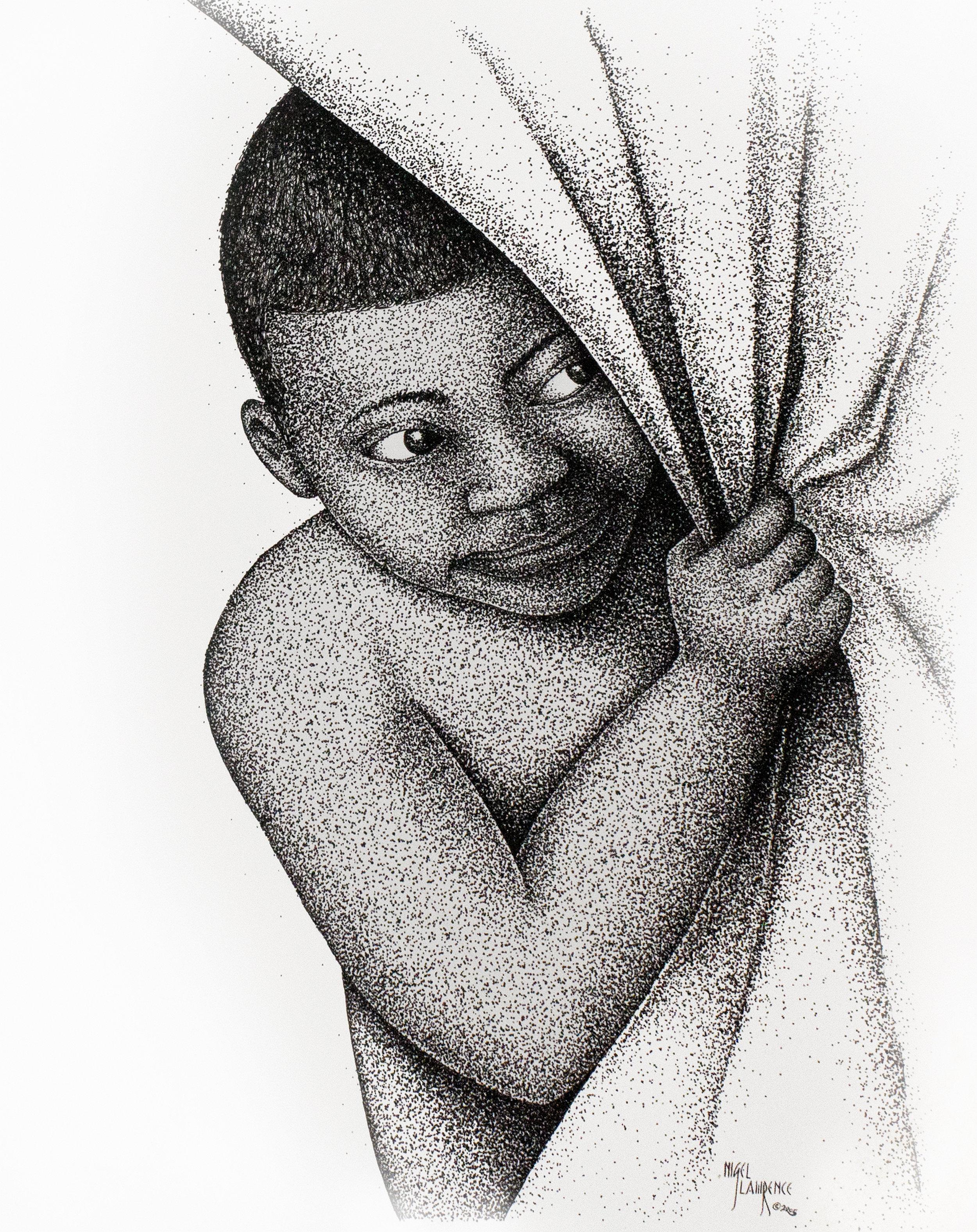Peeking | Pen & Ink on Paper