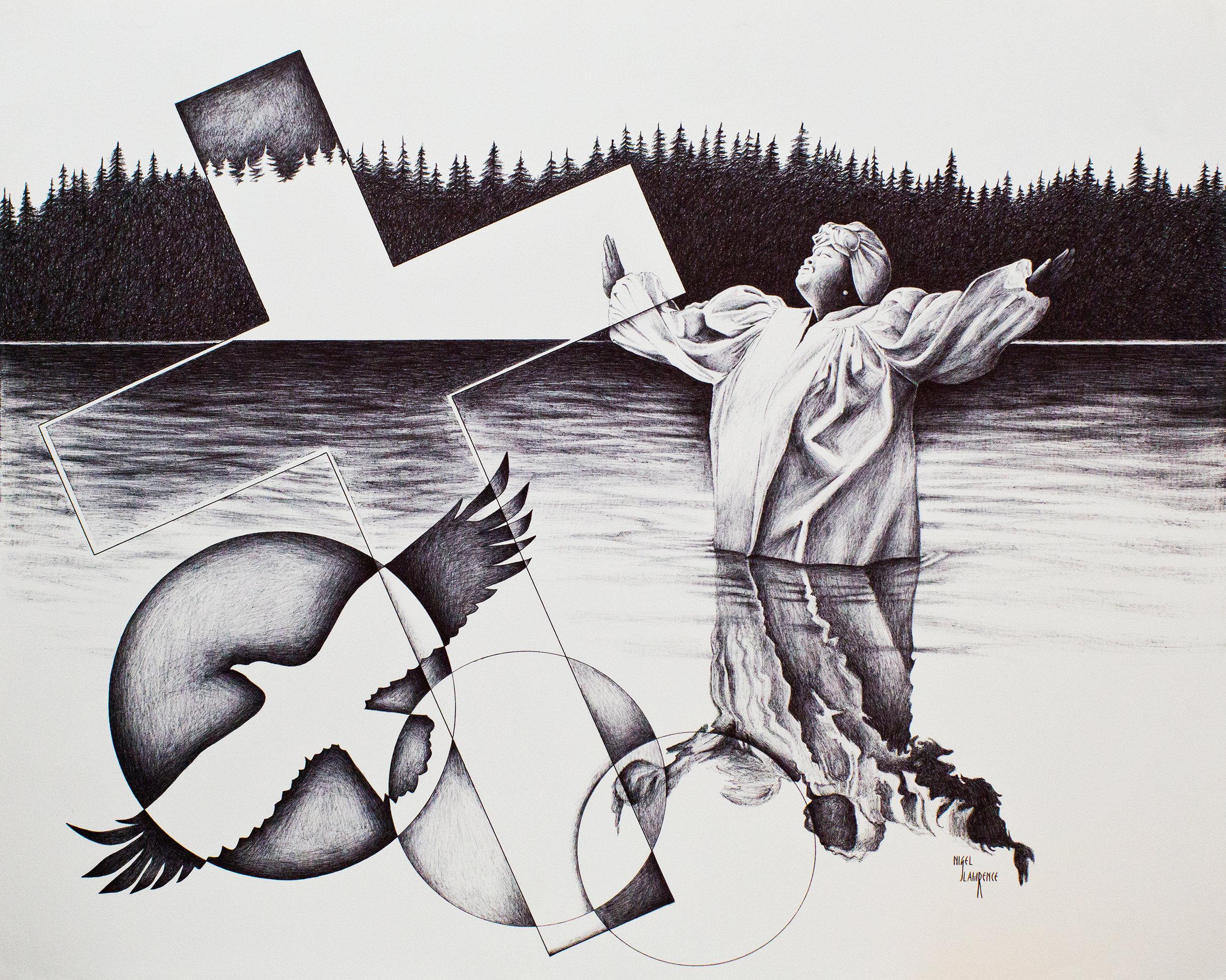 Baptism | Pen & Ink on Paper