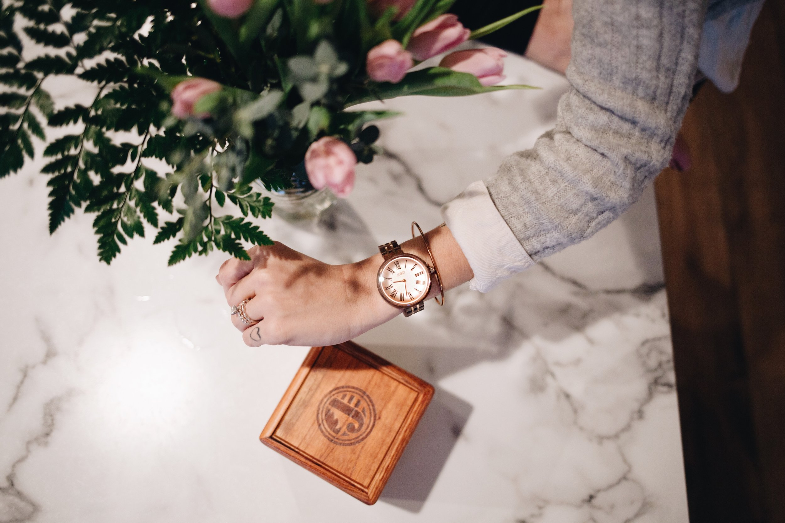 The wooden box it came in was stunning. Click the photo to shop JORD.