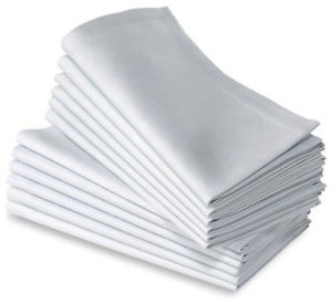 Linen Napkins - White  $1.05