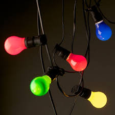 Festoon Lights - Coloured Bulbs
