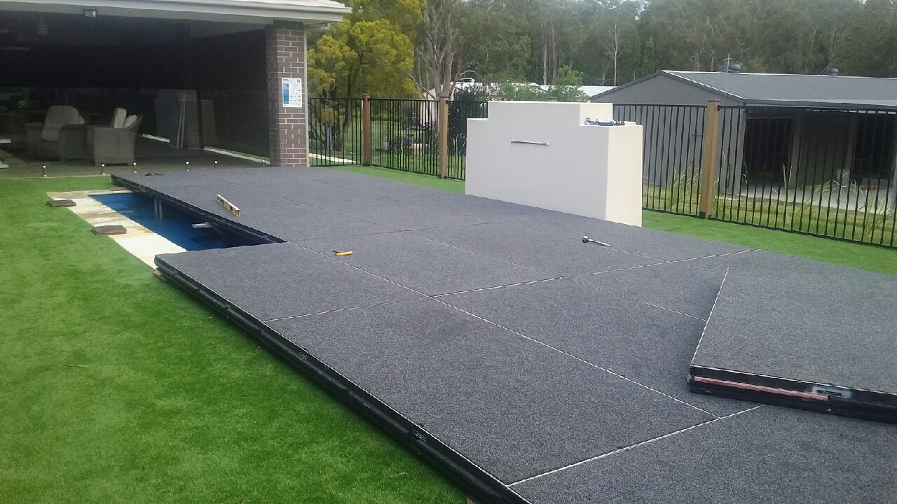 Stage covering Pool