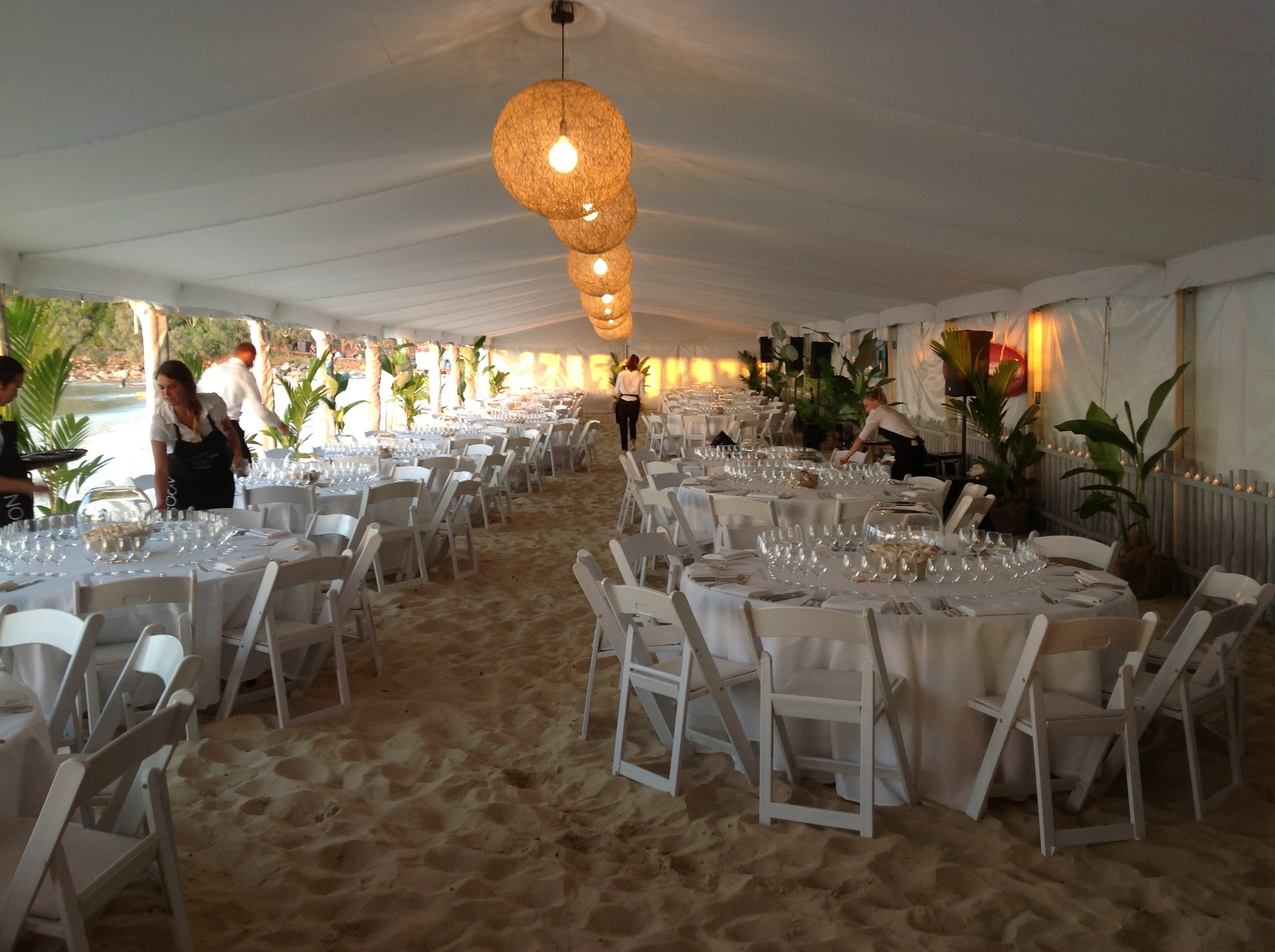 Inside Beach Marquee