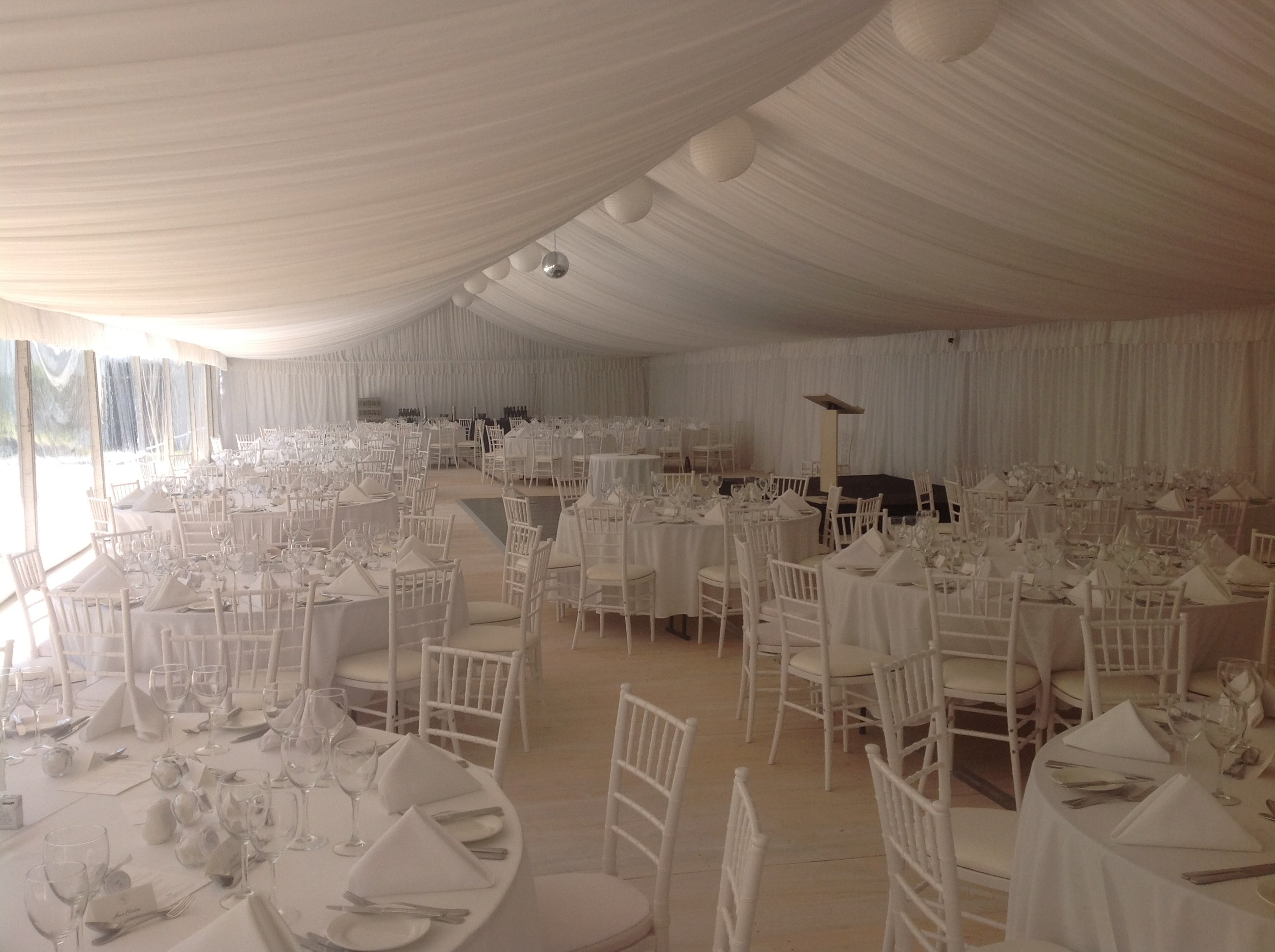 White Lining - Wedding marquee