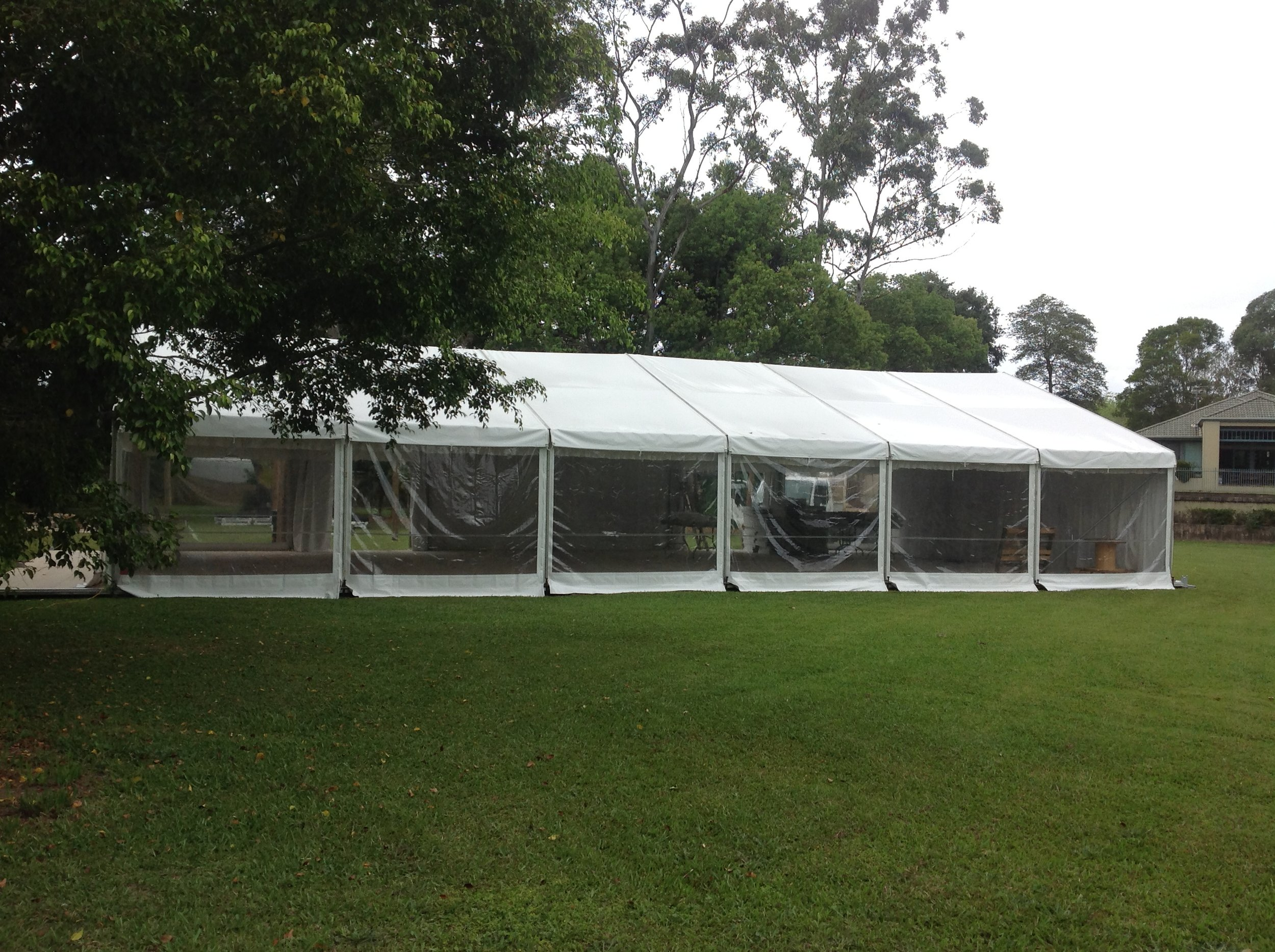 White and Clear Marquee