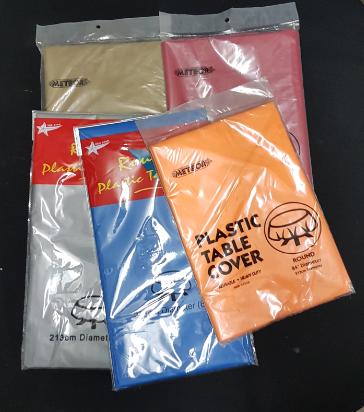 Plastic table cloth $2.00