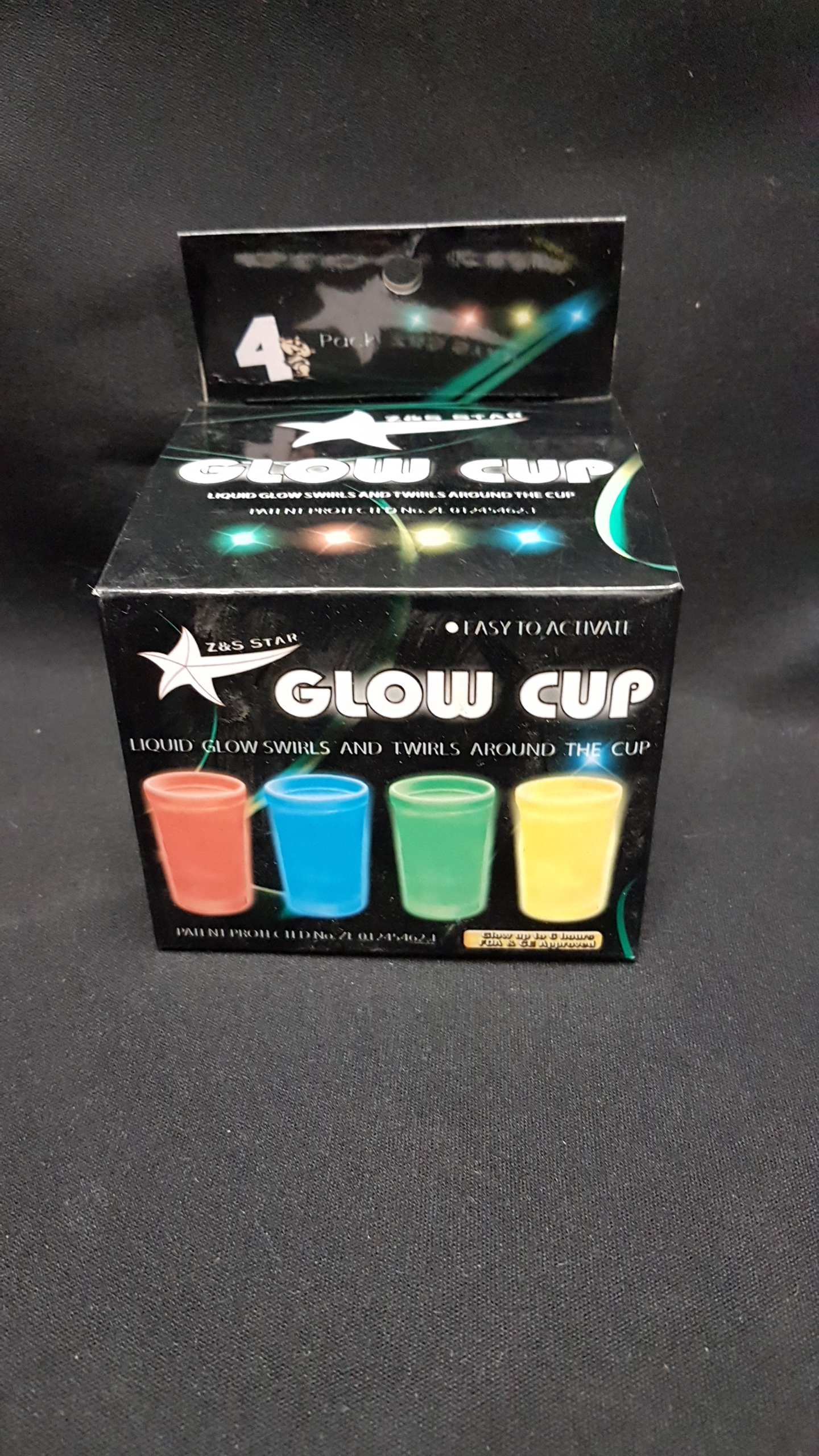 Glow cup 4 pack $1.00