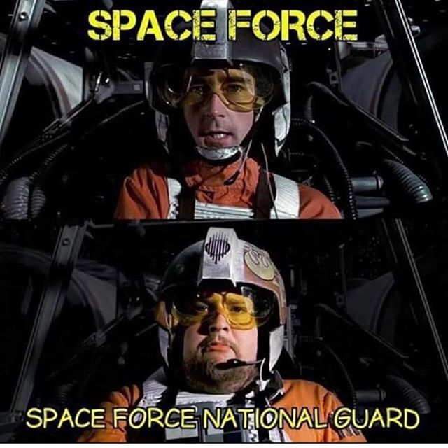 I see the future of the #spaceforce. Lol  #militaryhumor #military #Repost @military.humor ・・・ 🔥THIS IS TOO DAMN FUNNY!! 🤣🤣🤣 #roasted . . . . @supportmilitarymuscle . 🇺🇸BUY ONE GIVE ONE: For every tee bought, we will donate tees to deployed troops and homeless veterans. For more info visit www.militarymuscleinc.com . 🎗Want to get involved in our non-profit? Check out @militarymusclefoundation . 🎥Also visit: YouTube.com/militarymuscleinc for MM motivational videos! 💥Click Link in BIO💥 . ❎ TAG YOUR FRIENDS SO THEY CAN LAUGH TOO! . ❎ DM ME YOUR FUNNY POST FOR A FEATURE!!. . ❎ @military.humor KEEPING SMILES ON FACES SINCE 2015 . #military #militarymuscle #supportmilitary #supportmilitarymuscle #iammilitarymuscle #usn #navy #usmc #marines #usarmy #army #usaf #airforce #uscg #coastguard #veteran #guns #humor #militaryhumor #funny #laugh