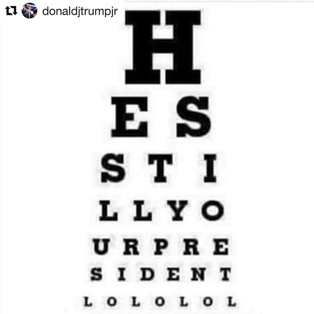 Comment below when you see it!!! #Repost @donaldjtrumpjr ・・・ In case you needed an eye checkup. #maga #hesyourpresident