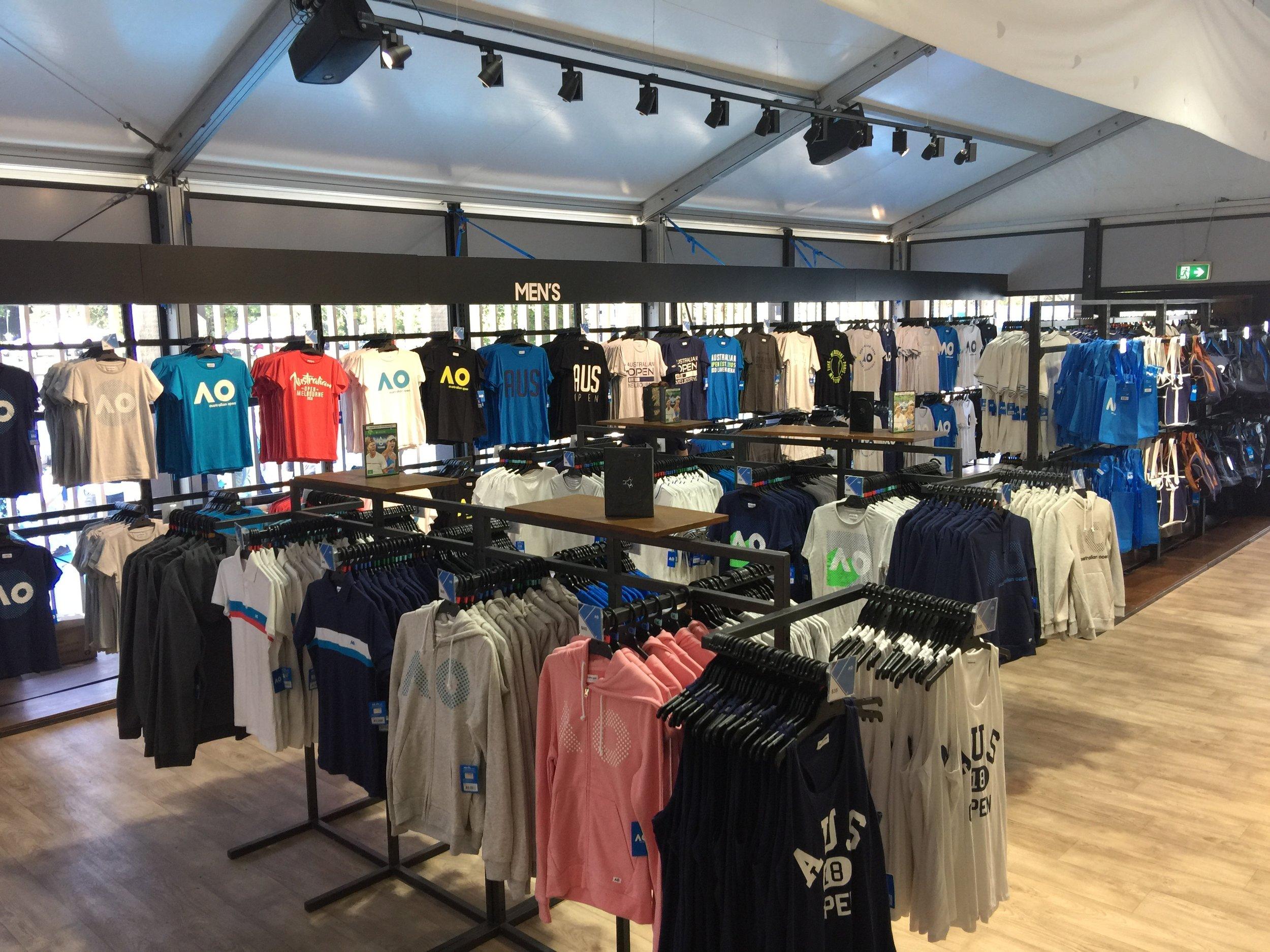 Australian Open Merchandise at Birrarung Marr