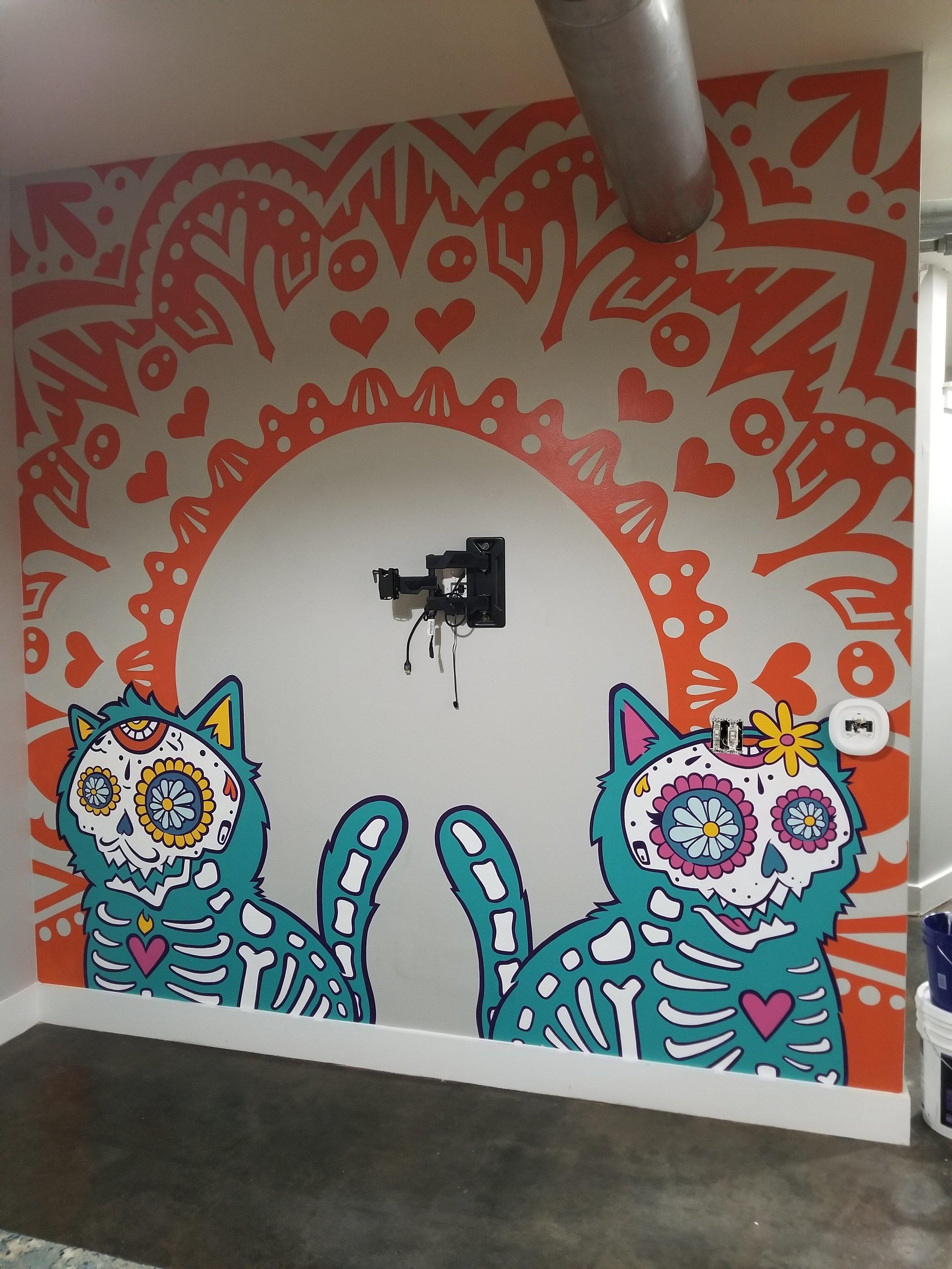 Dia De Los Kittens Mural