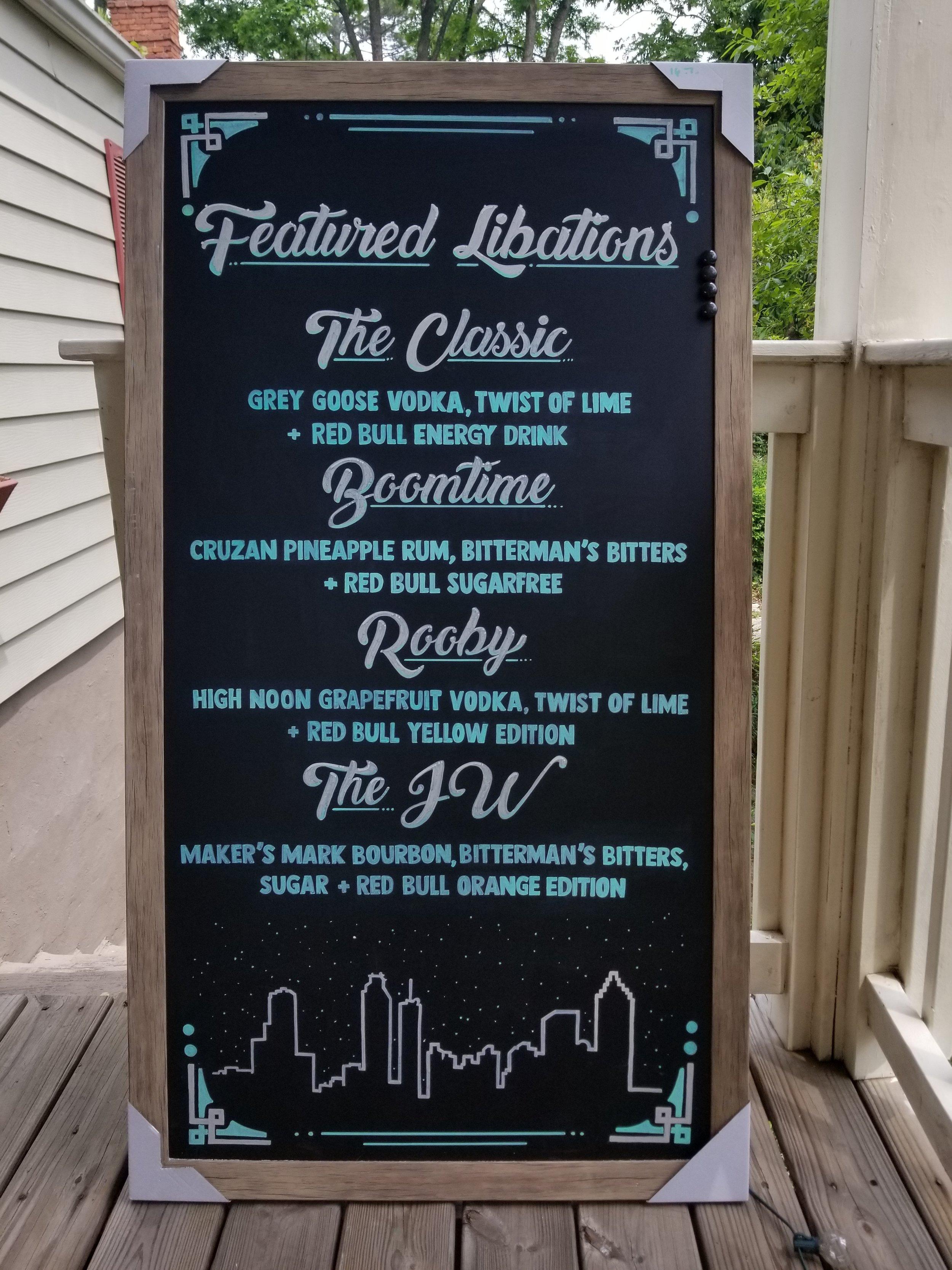Chalkboard for Atlanta Red Bull Offices