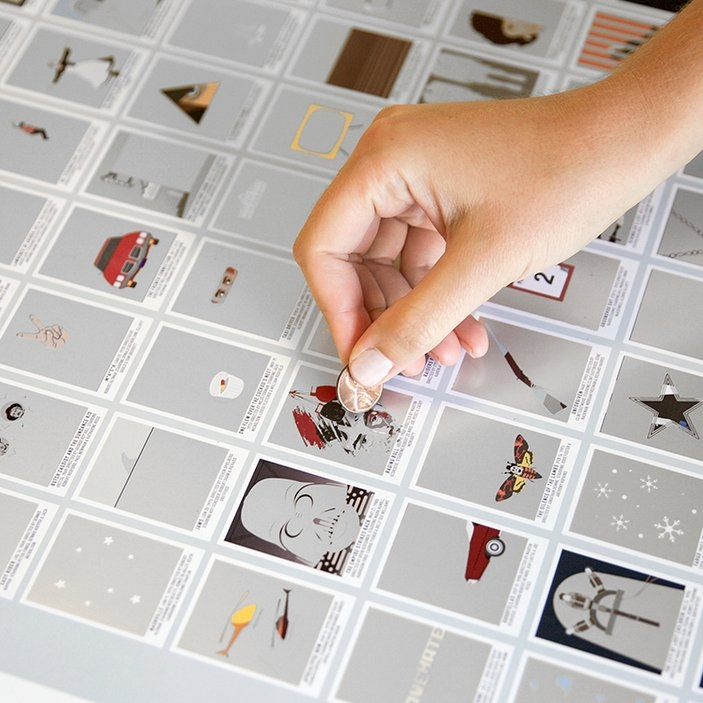 An interactive statement piece - $29+ - Pop Chart LabWall art is one of those things that can be hard to agree on. Pop Chart Lab combines your hobbies with your decor. We love this scratch off movie chart or the beautiful hip hop flow chart.