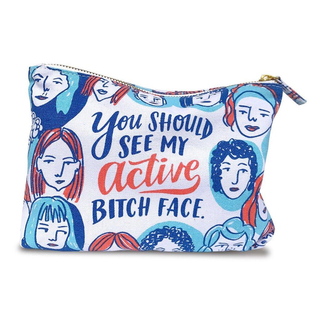 Active Bitch Face Pouch - $18