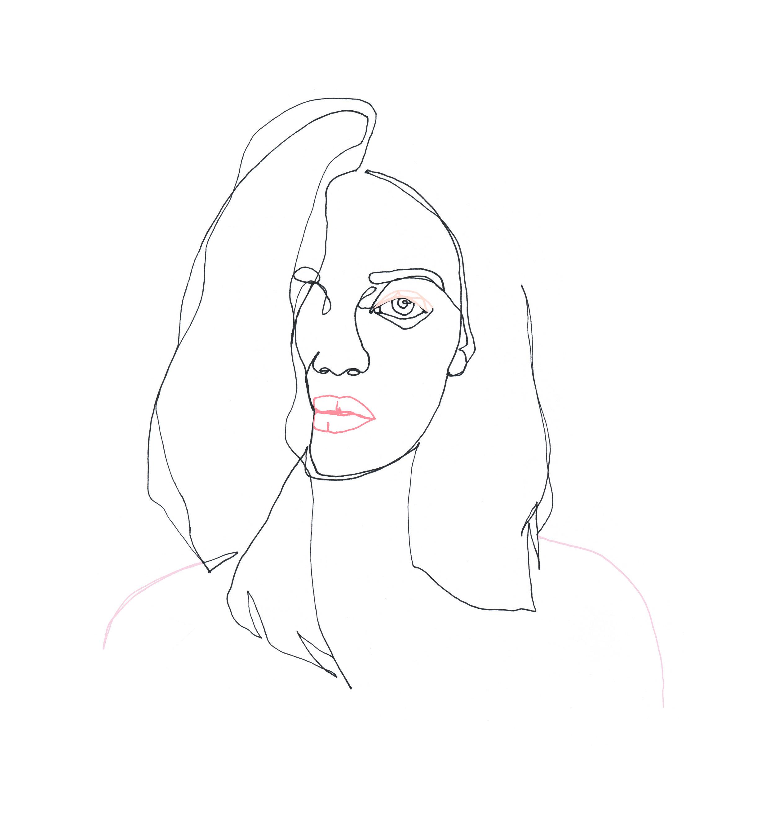 Her Way Illustration av Clara Schicketanz