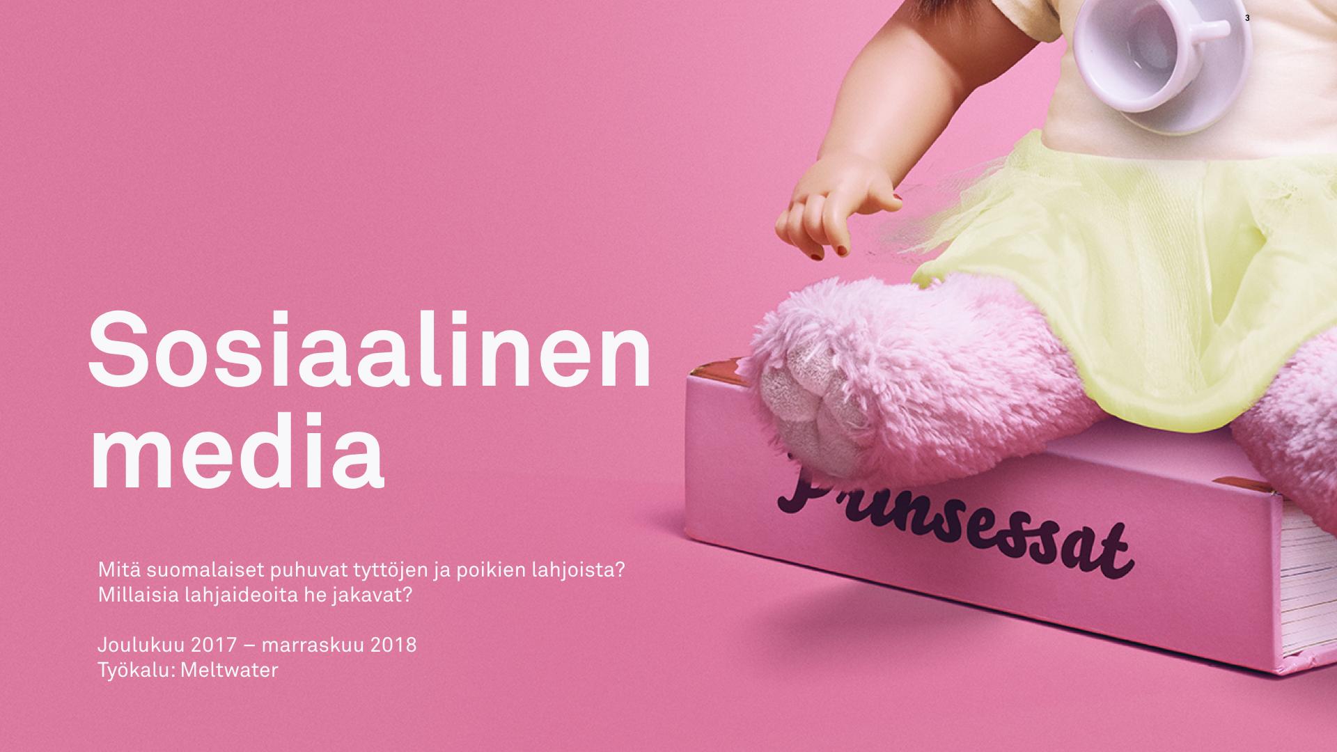 Mitä suomalaiset puhuvat tyttöjen ja poikien lahjoista?