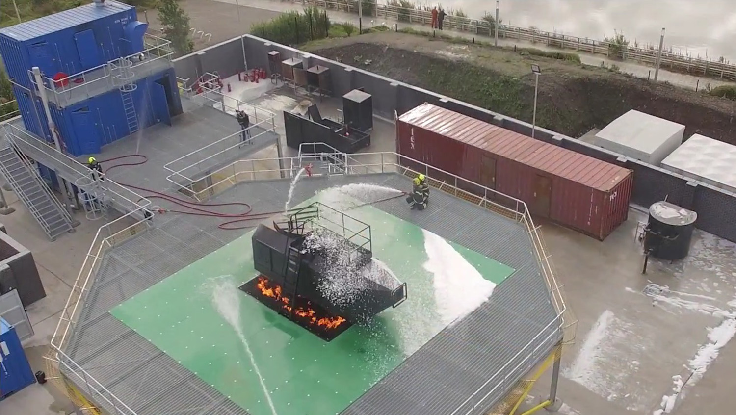 Complete fire training stacks