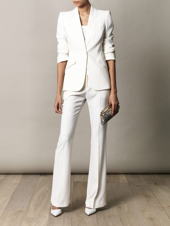 4. White Suit - You can never go wrong with a good suit! I mean it's a whole outfit put together for you!