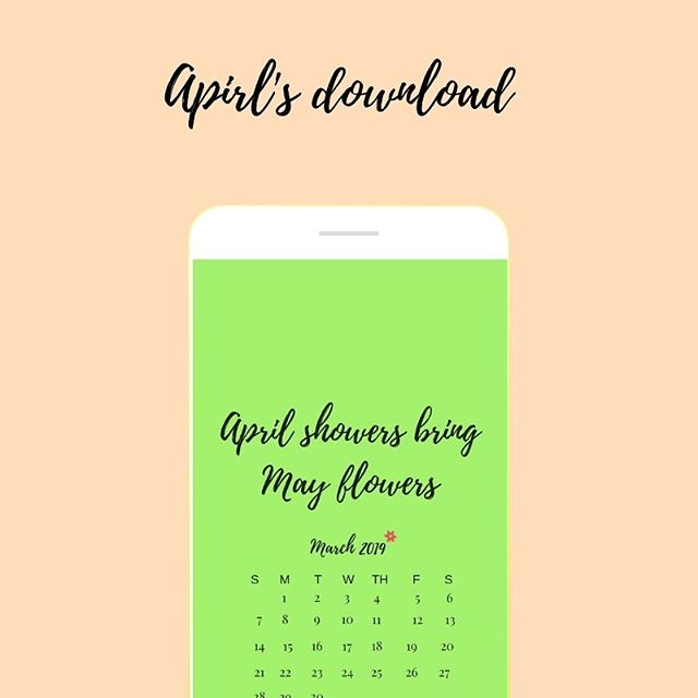 Happy April! You can grab your free lock screen on our ig stories!