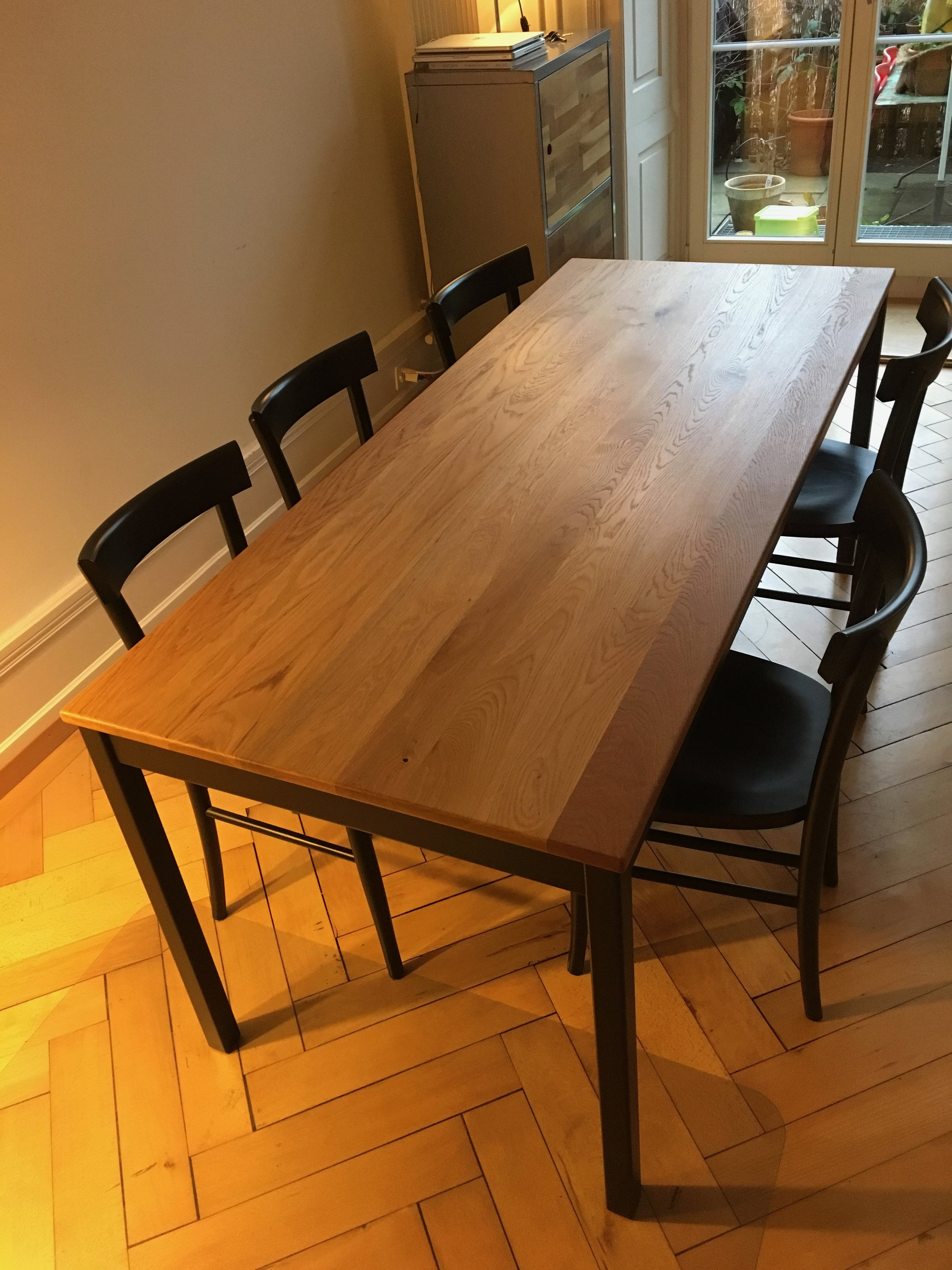 Emils Tisch - Eiche, Buche schwarz gestrichen