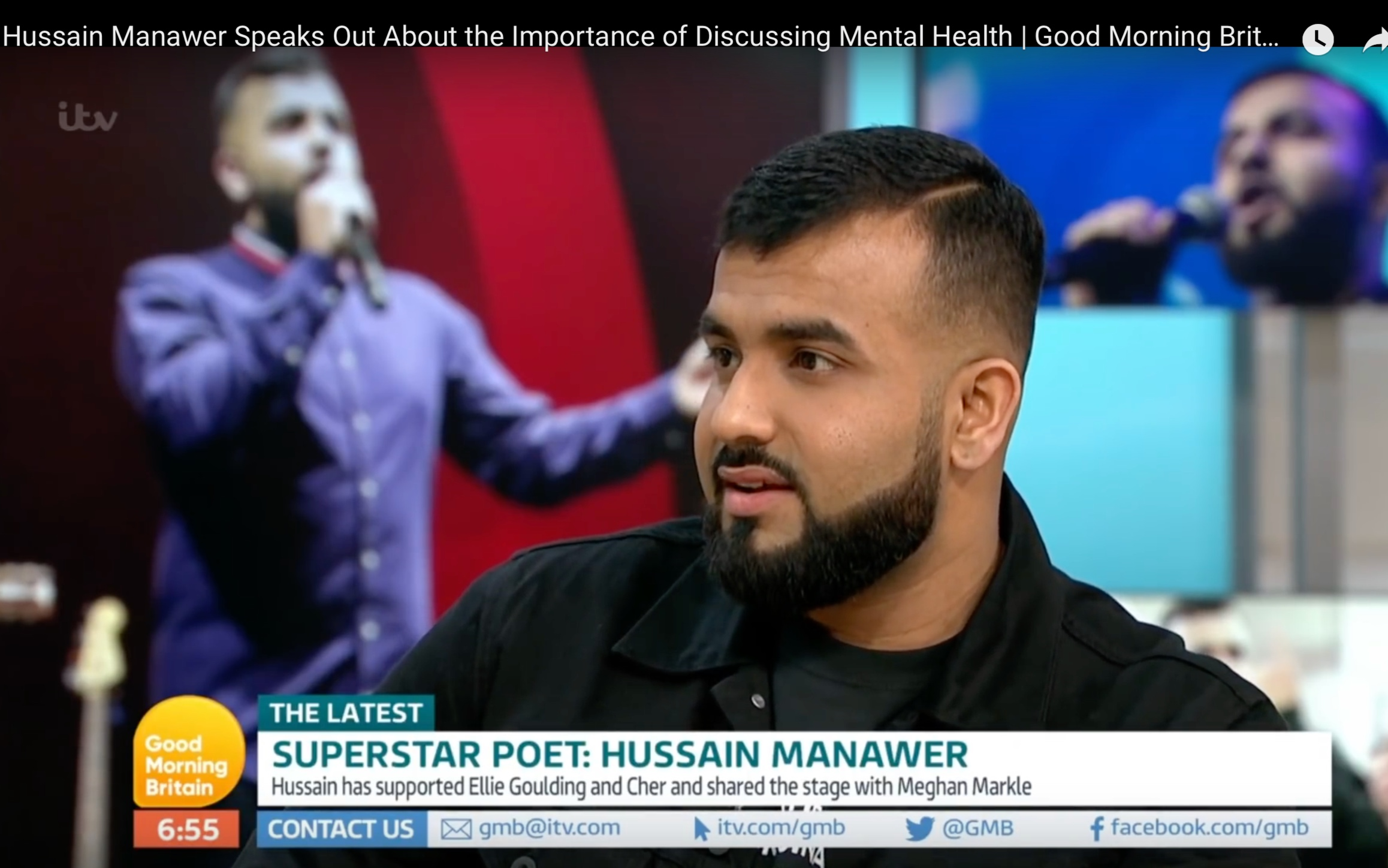 Good Morning Britain - Joining Ben Shepherd and Kate Garraway, Hussain breaks down the importance of discussing mental health, the impact of bereavement after the loss of his mother and all things poetry.