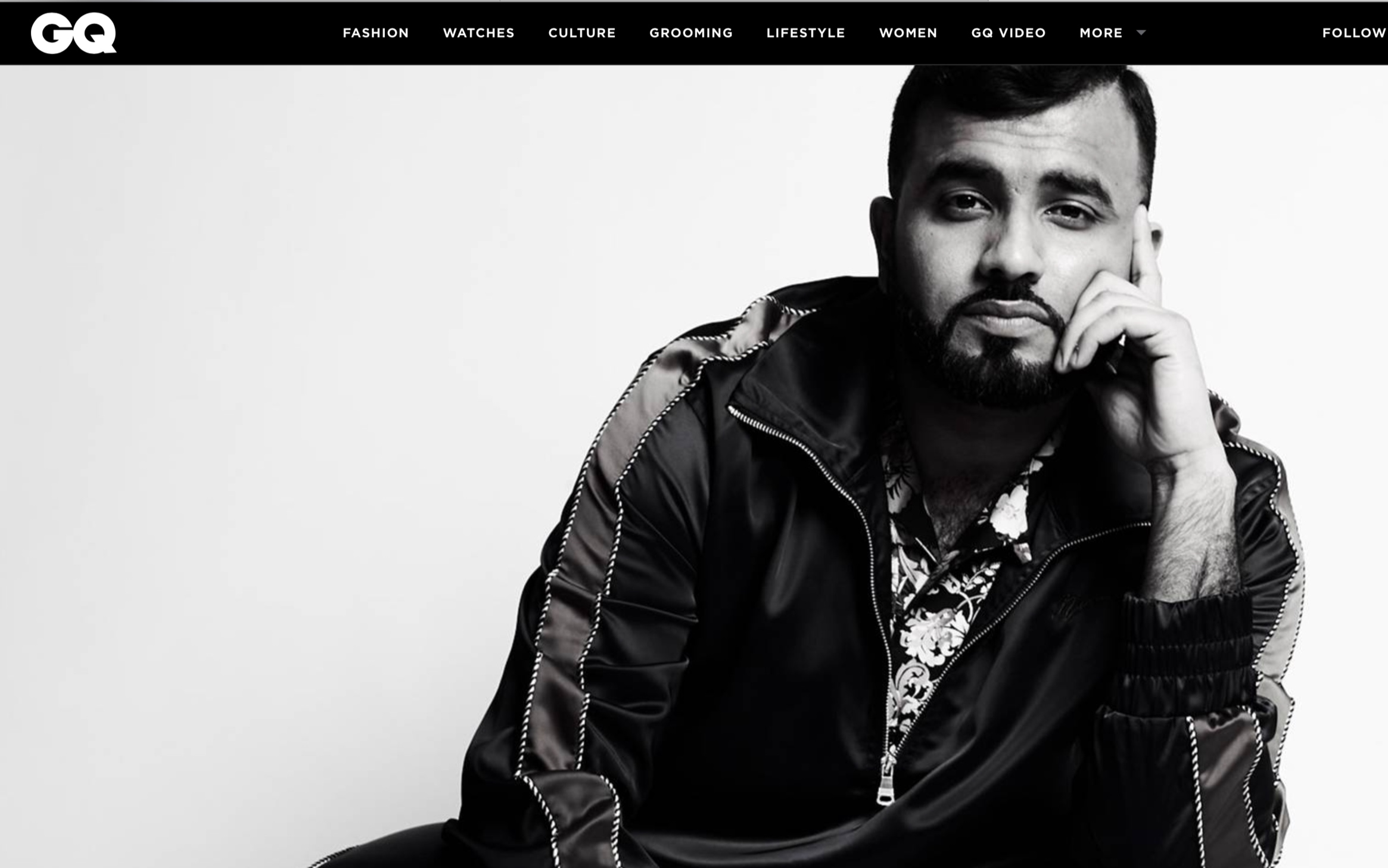 GQ Magazine - Hussain Manawer on losing his mum, suicidal thoughts and finding gold dust in the darkest hour.