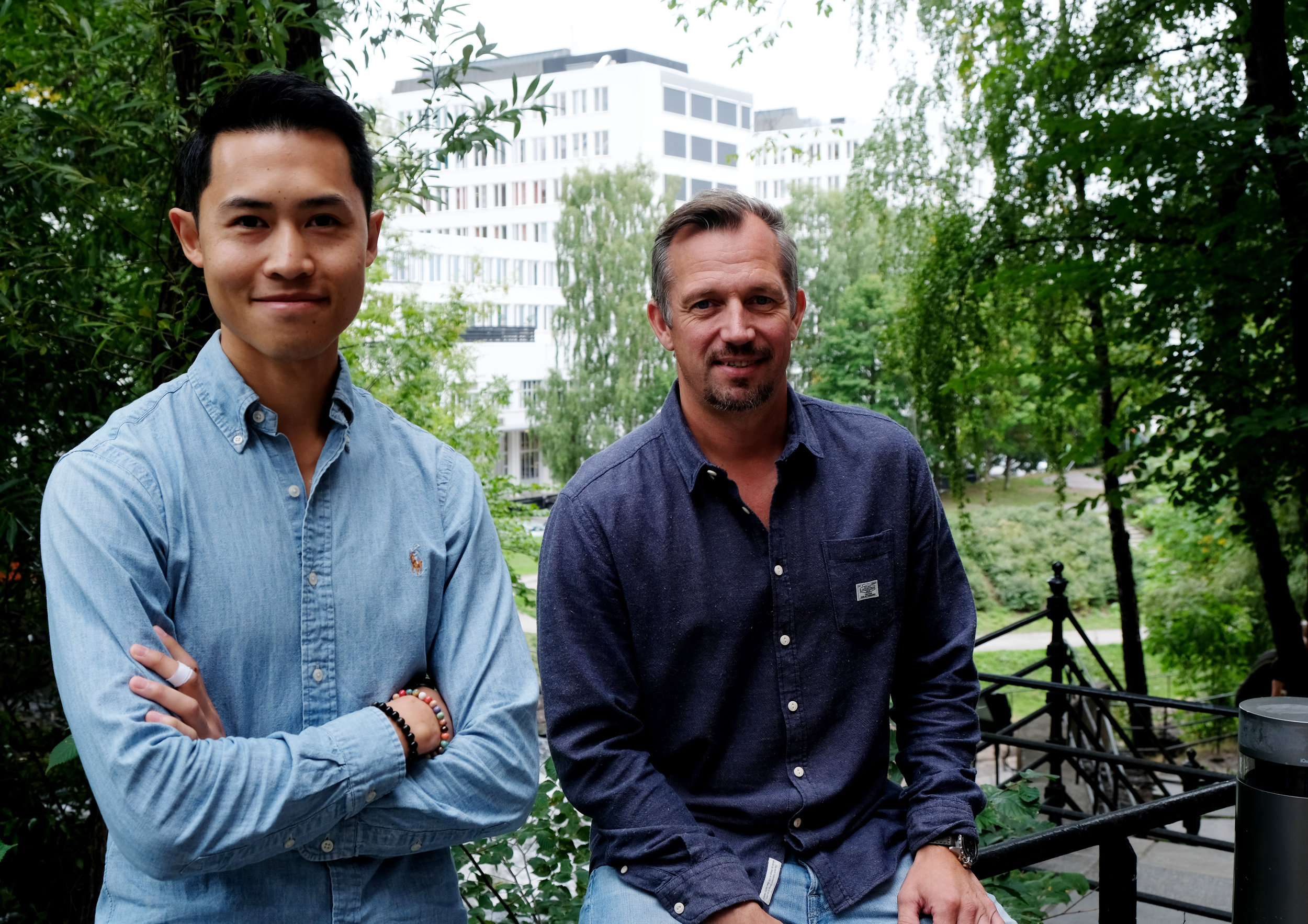 From left: Hoa Binh Nguyen og CEO Ståle Lund-Andersen