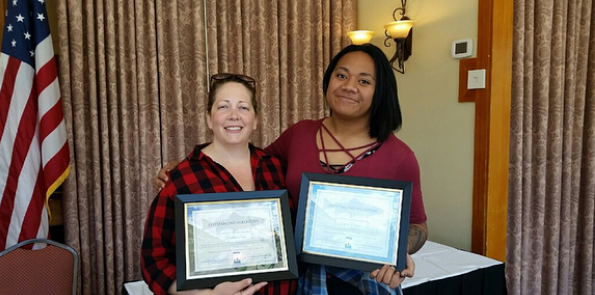 Emma and Heather both received the Outstanding Volunteer Award.     Image credit: Emma Brown  www.instagram.com/emmabrowntrout