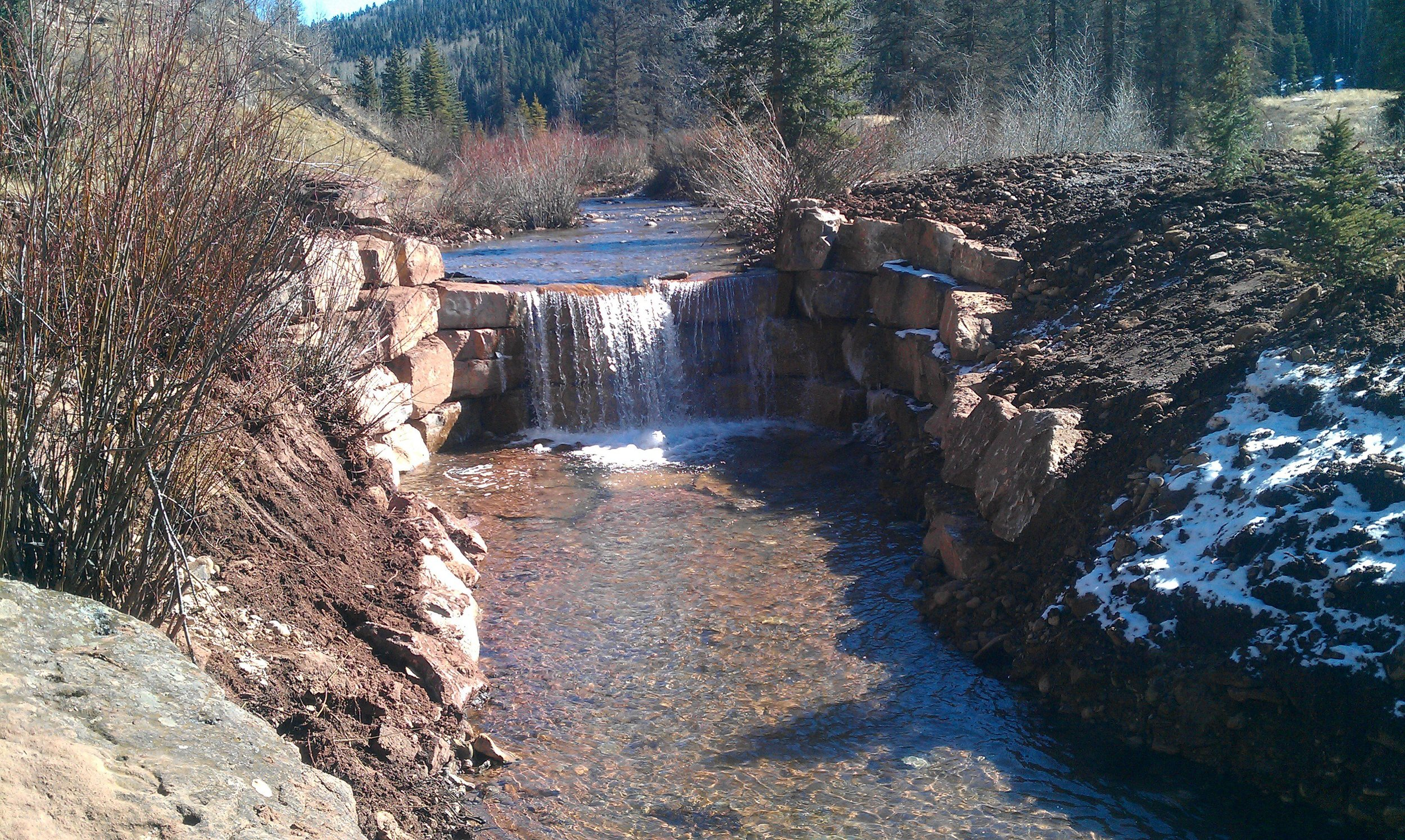 A fish barrier installed to protect Hermosa Creek native trout, through a partnership including the San Juan National Forest, Colorado Parks and Wildlife, and Trout Unlimited.  More such projects will be needed to secure homes for the newly-rediscovered San Juan lineage cutthroat.