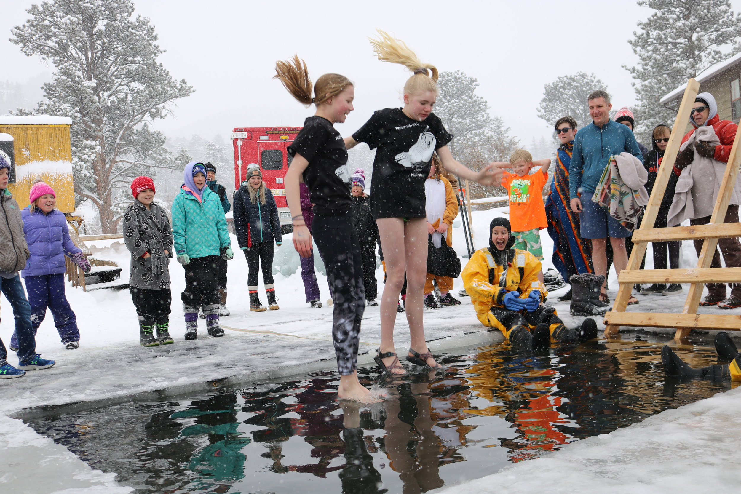 Local students take the plunge!
