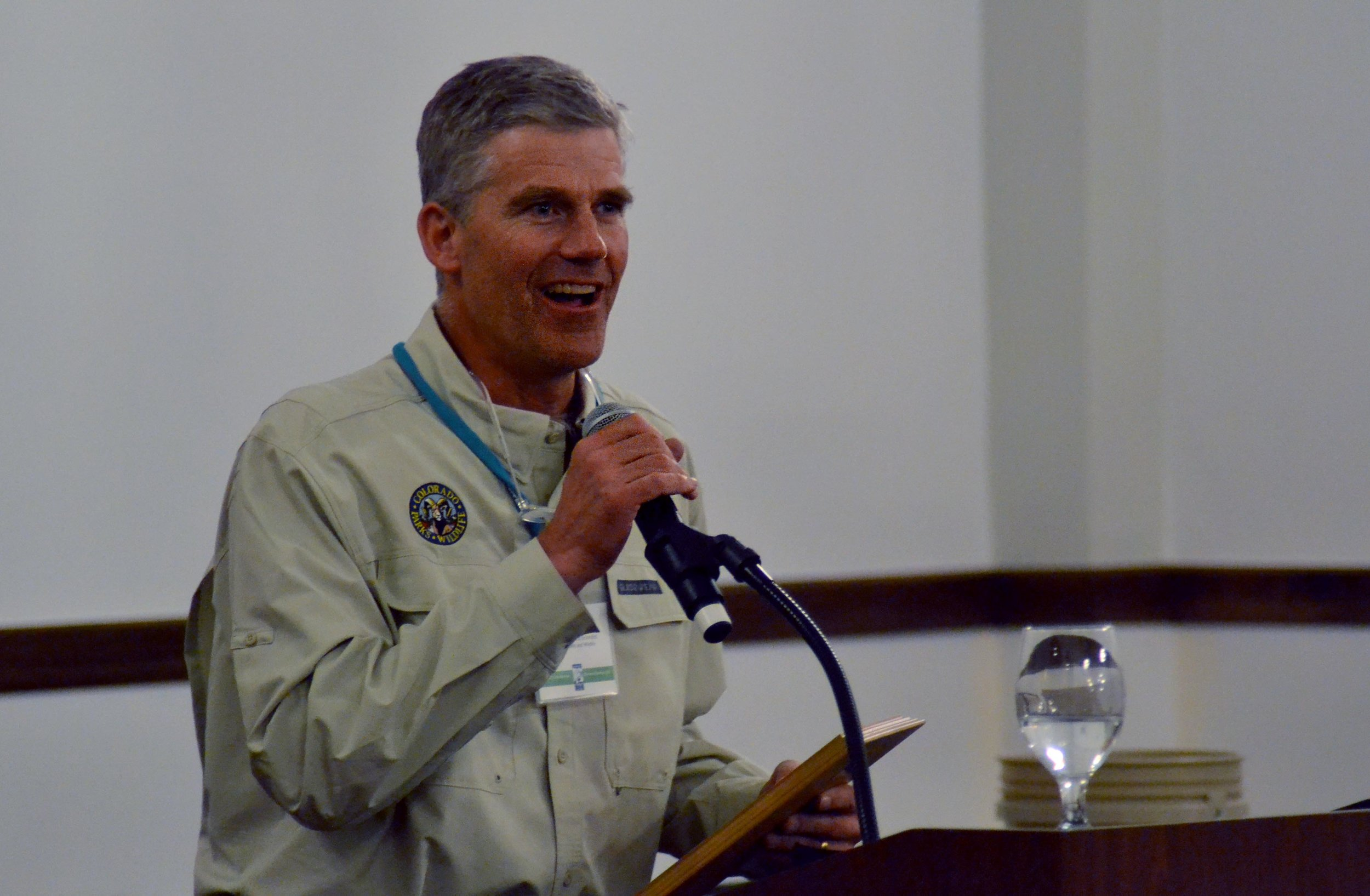 Pictured: Awardee Kevin Rogers, Colorado Parks and Wildlife biologist and researcher.
