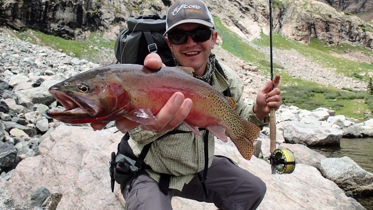 Kevin Terry with a RGCT from Upper Sand Lake, part of the project waters.  Photo courtesy of Andrew Todd.
